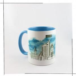 Die <b>Leipzig Tasse</b><br/>Einzelmotive:<br/>Thomanerchor und Skyline Leipzig