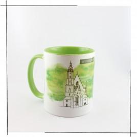 Die <b>Leipzig Tasse</b><br/>Einzelmotive: <br/>Thomaskirche und Johann Sebastian Bach