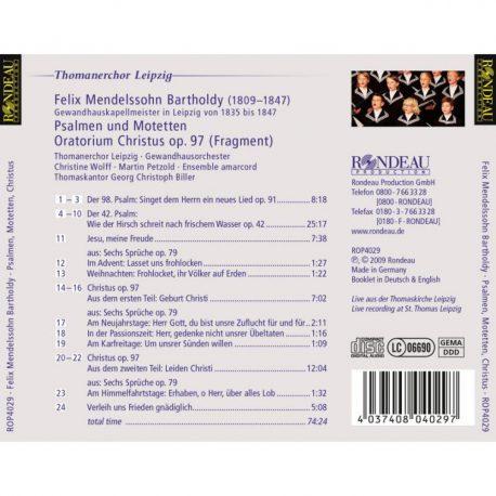 CD, Kulturshop Leipzig, Felix Mendelssohn Bartholdy, Psalmen und Motetten, Gewandhauskapellmeister,