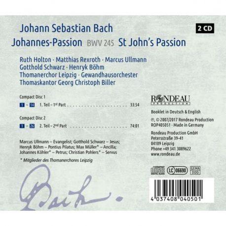 CD, Kulturshop Leipzig, Johann Sebastian Bach, BWV 245, Thomanerchor Leipzig, Gewandhausorchester Leipzig,