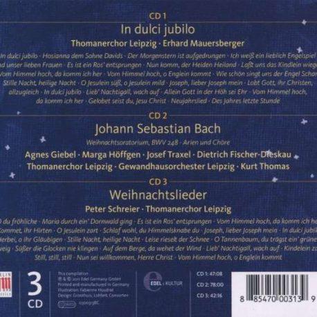 Thomanerchor CD: Festliche Weihnachten in Leipzig, 3 Weihnachtsalben in einer CD-Box