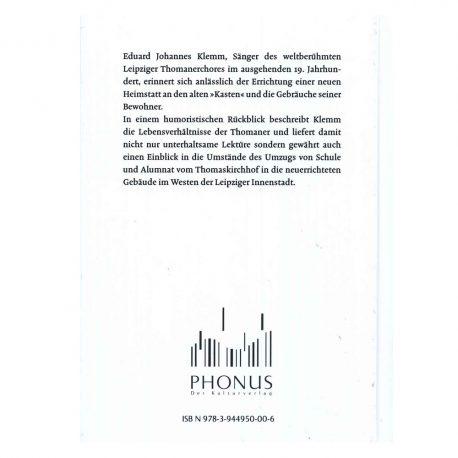 Buch, Kulturshop Leipzig,  Eduard Johannes Klemm,  Thomaner im ausgehenden 19. Jahrhundert,