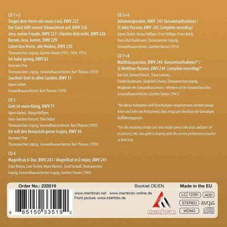 CD, Kulturshop Leipzig, Thomanerchor, Thomaskirche. Johann Sebastian Bach, Vokalwerke,  Johannes-Passion BWV 245, Matthäus-Passion BWV 244,