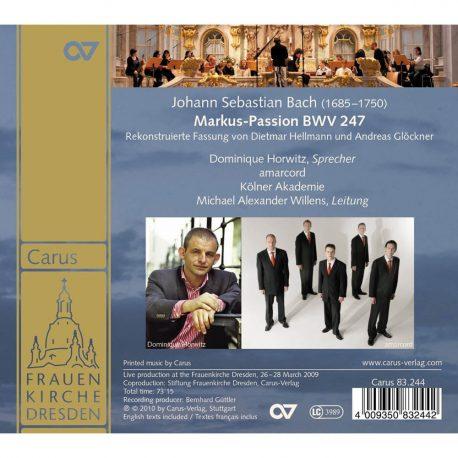CD, Kulturshop Leipzig, Johann Sebastian Bach, Markus Passion, Amarcod, Kölner Akademie, BWV 247,