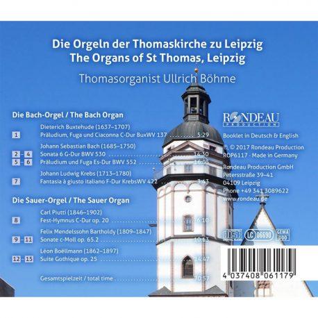 CD, Kulturshop Leipzig, Thomasorganist Ullrich Böhm, Thomaskirche,  Felix Mendelssohn Bartholdy, Die Orgeln der Thomaskirche zu Leipzig,