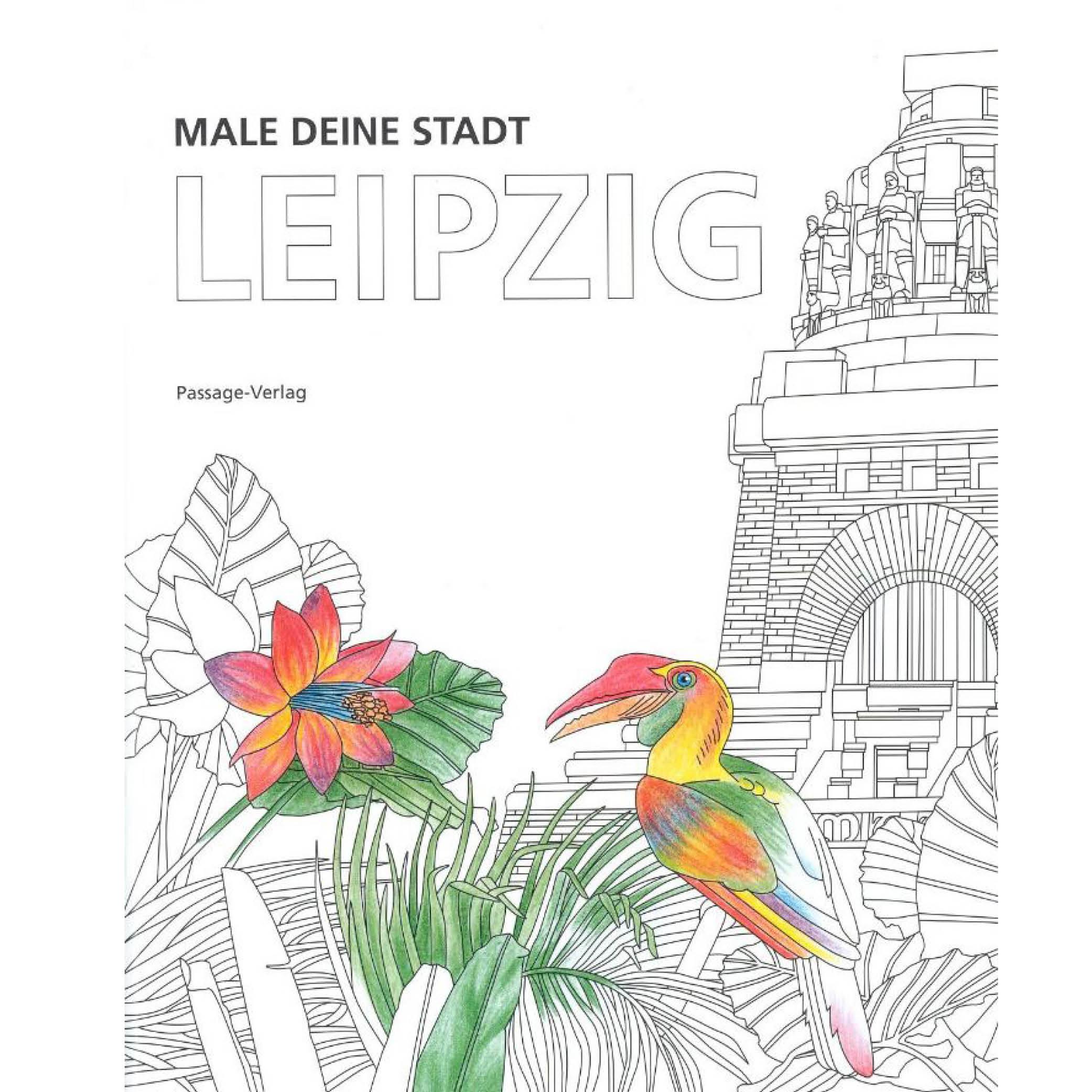 Male deine Stadt-Leipzig [Malbuch]