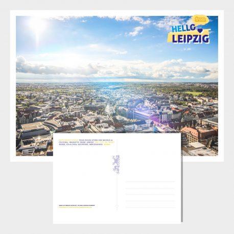 Postkarten Leipzig von Oben