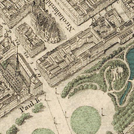 historischer Stadtplan Leipzig Detail