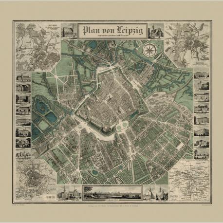 Historischer Stadtplan Leipzig