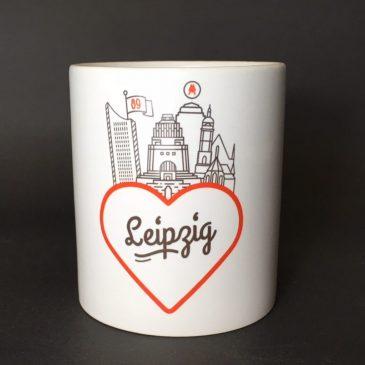Leipzig Tasse [Love] weiß