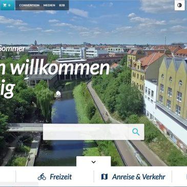 Die Internetseite leipzig.travel erstrahlt im modernen Design