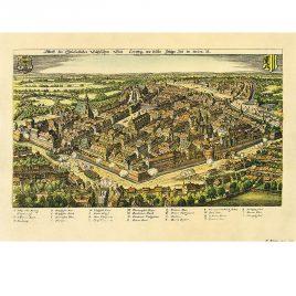 Historischer Stadtplan Leipzig 1620