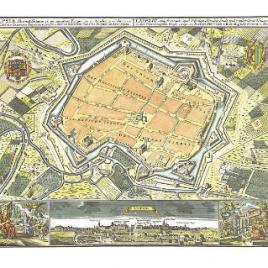 Historischer Stadtplan Leipzig um 1700 (Kupferstich)