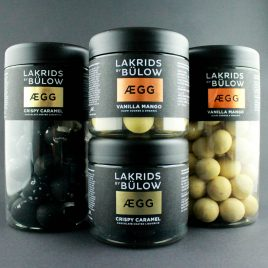 Lakrids by Bülow EGG – CRISPY CARAMEL Small 125g und Regular 265g