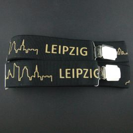 Hosenträger Leipzig Skyline schwarz/gold