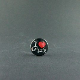 Ansteckbutton – I ♥ Leipzig Button