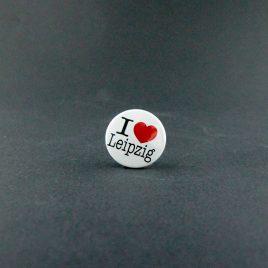 Ansteckbutton – I ♥ Leipzig Button