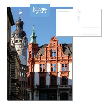 Postkarte Leipzig – Stadtansicht