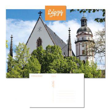 Postkarte Leipzig – Thomaskirche