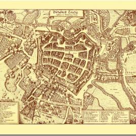 Historischer Stadtplan Leipzig 1637