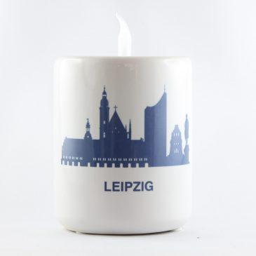 Kerzenhalter für Teelichter </br>Motiv: Leipzig Skyline