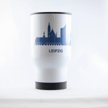 Thermobecher </br>Edelstahl</br> Motiv: Leipzig Skyline</br> [390 ml]