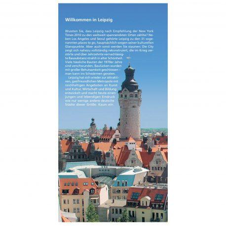 Go Vista Reiseführer Leipzig inklusive großem Stadtplan und 3 Postkarten.