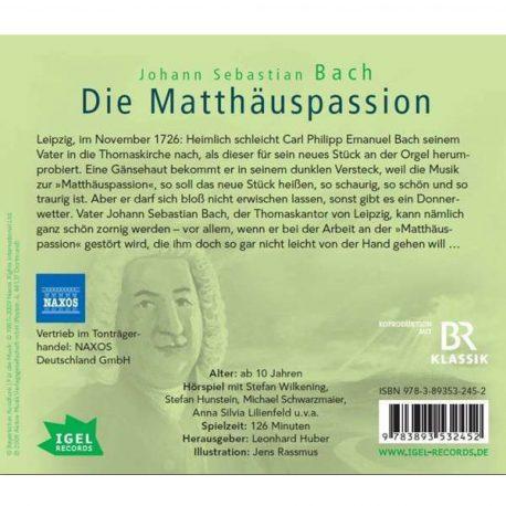 Starke Stücke Johann Sebastian Bach Die Matthäuspassion ein Hörspiel von Sylvia Schreiber.