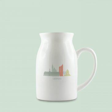 Keramikkrug </br>Motiv: Leipzig Skyline </br>Farbe: pastell</br>[360 ml]