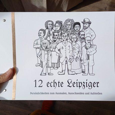 Bastelbogen Set mit Leipziger Persönlichkeiten, Johann Sebastian Bach,