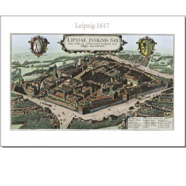 Historischer Stadtplan Leipzig 1617