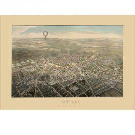 Historischer Stadtplan Leipzig 1850