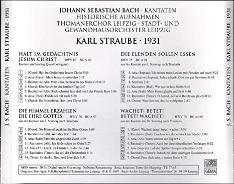 Thomaskantor Karl Straube
