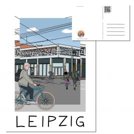 Postkarte LEIPZIG </br> Motiv: Connewitzer Kreuz