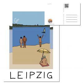 Postkarte LEIPZIG </br> Motiv: Cospudener See