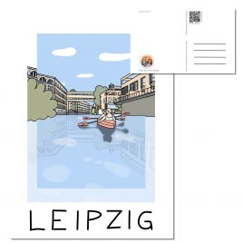 Postkarte LEIPZIG </br> Motiv: Karl Heine Kanal