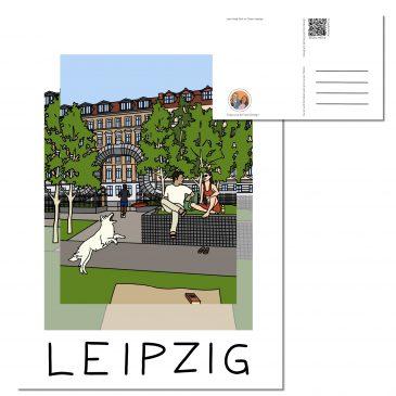 Postkarte LEIPZIG </br> Motiv: Lene Voigt Park