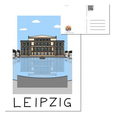 Postkarte LEIPZIG </br> Motiv: Oper Leipzig