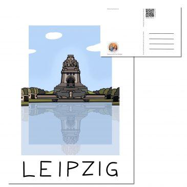 Postkarte LEIPZIG </br> Motiv: Völkerschlachtdenkmal