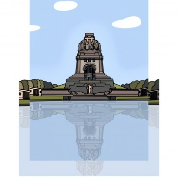 Poster LEIPZIG </br> Motiv: Völkerschlachtdenkmal