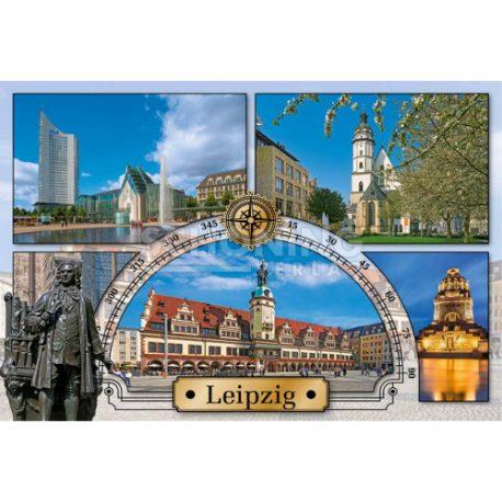 Magnete mit Stadtansichten Leipzig. Völki, Augustusplatz Leipzig, Johann Sebastian Bach, Thomaskirche.