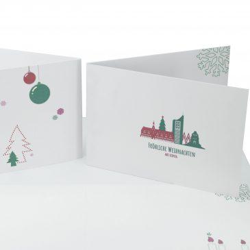 Weihnachtskarte Leipzig
